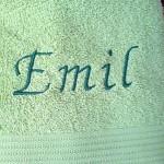 besticktes Handtuch Emil