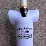 Flaschenwaermer oder Flaschenkuehler - bedrucktes Neopren Mini-T-Shirt mit Logo