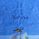 Seeraeuber Kinderhandtuch Norwin bestickt