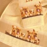 Welpen Handtuch bestickt mit Namen